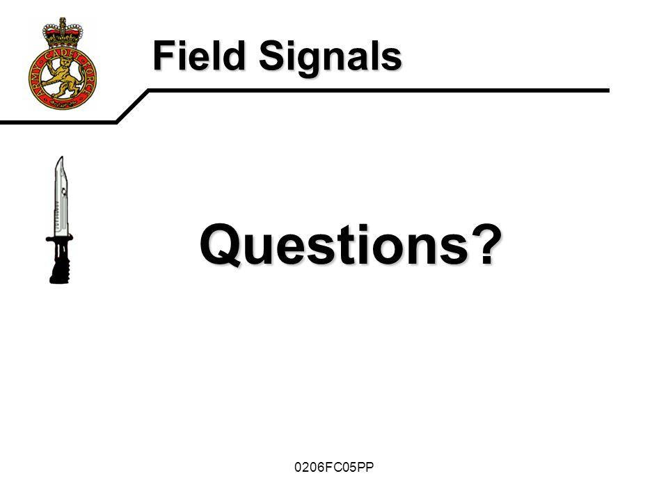Field Signals Questions 0206FC05PP