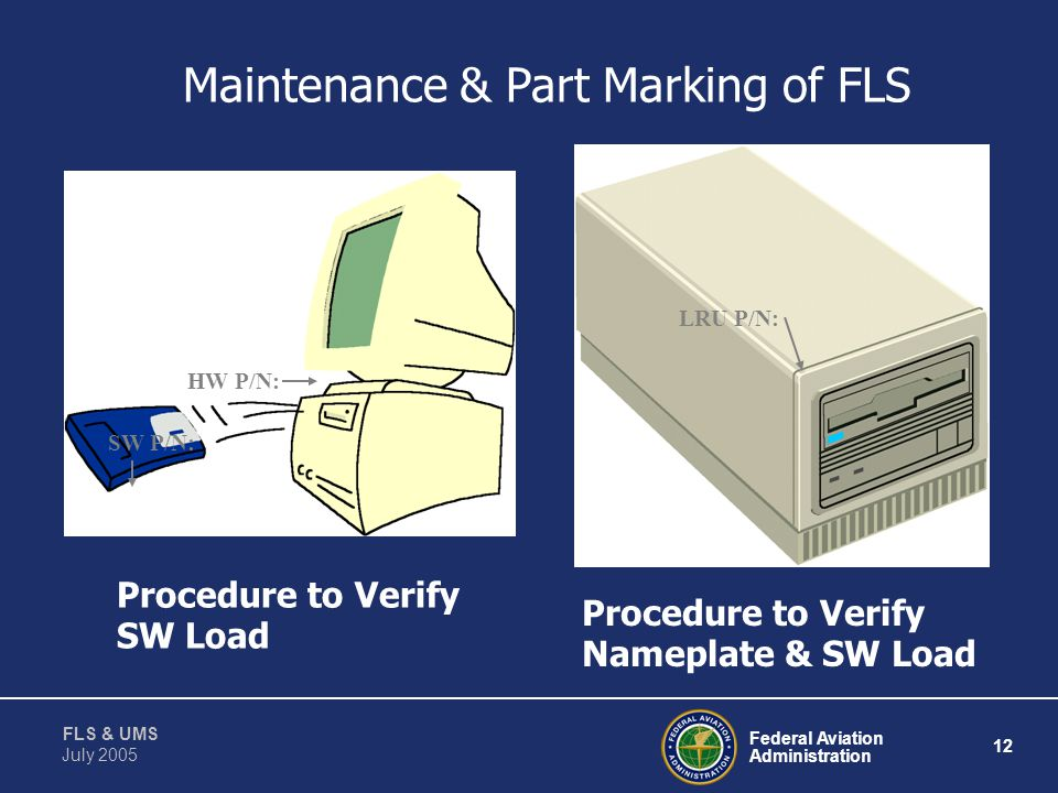 Maintenance & Part Marking of FLS