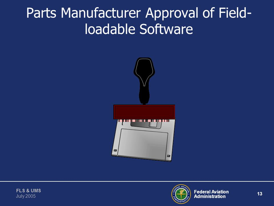 Parts Manufacturer Approval of Field-loadable Software