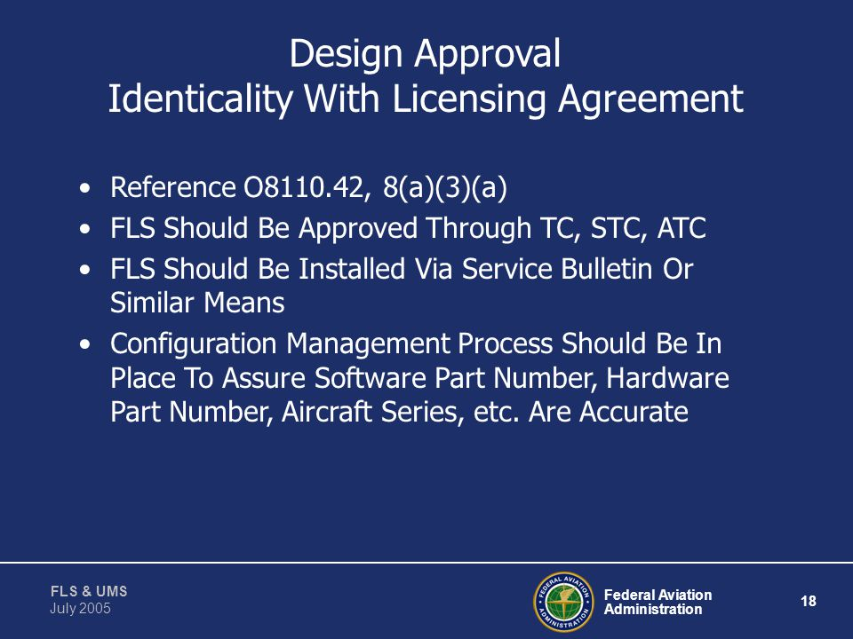 Design Approval Identicality With Licensing Agreement
