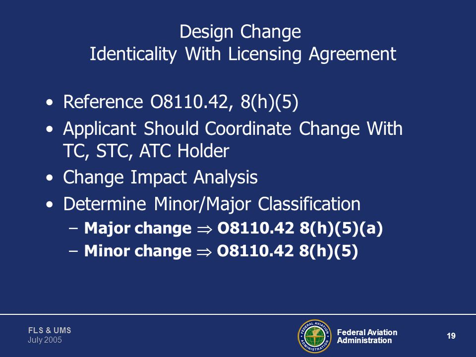 Design Change Identicality With Licensing Agreement