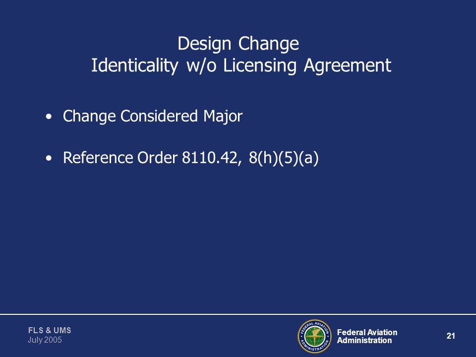Design Change Identicality w/o Licensing Agreement