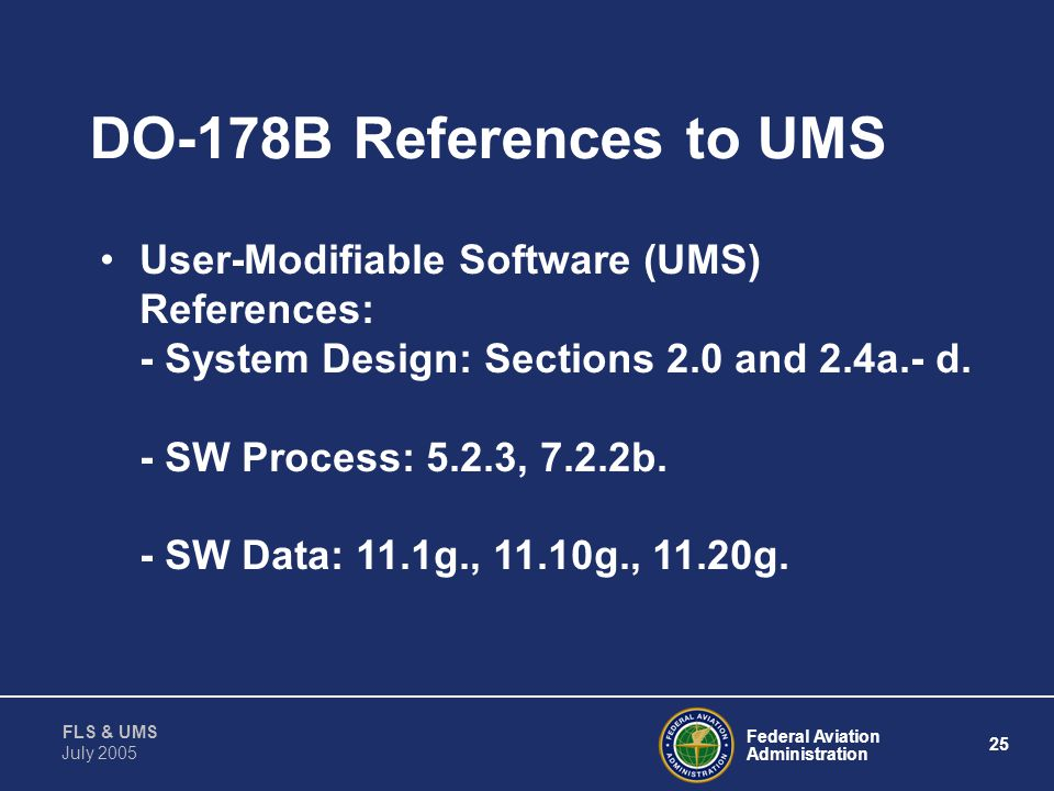DO-178B References to UMS