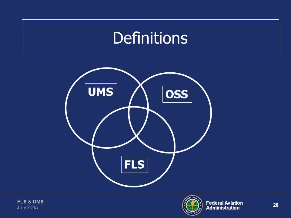 Definitions UMS OSS FLS