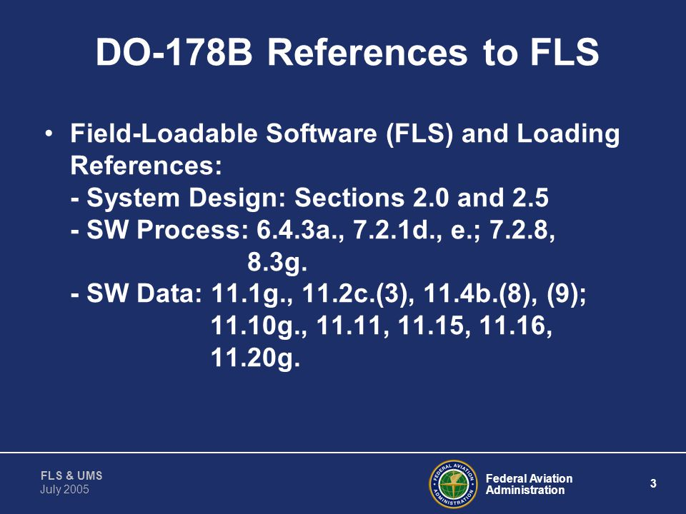 DO-178B References to FLS
