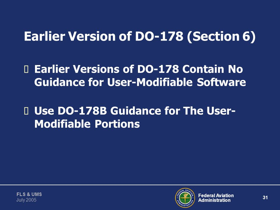 Earlier Version of DO-178 (Section 6)
