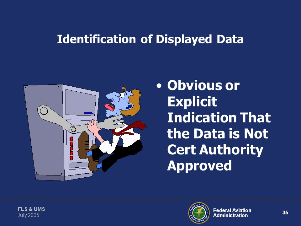 Identification of Displayed Data