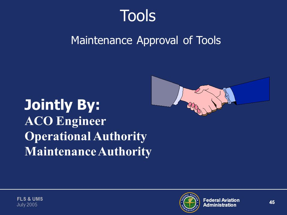 Maintenance Approval of Tools