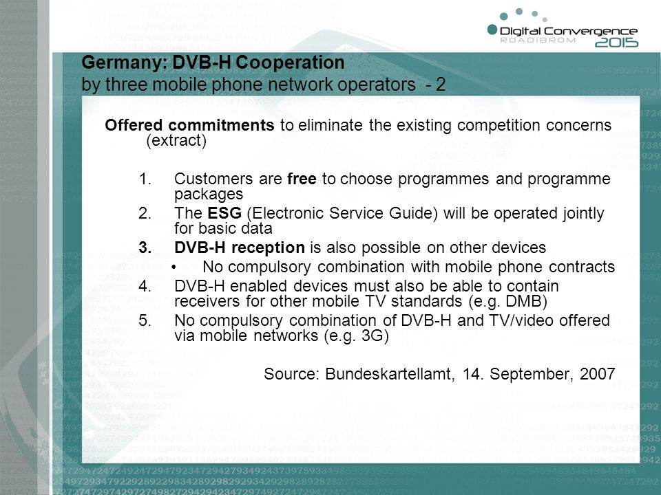 Germany: DVB-H Cooperation by three mobile phone network operators - 2