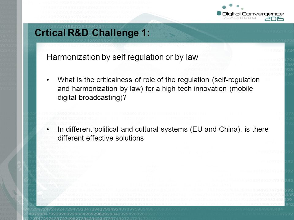 Crtical R&D Challenge 1:
