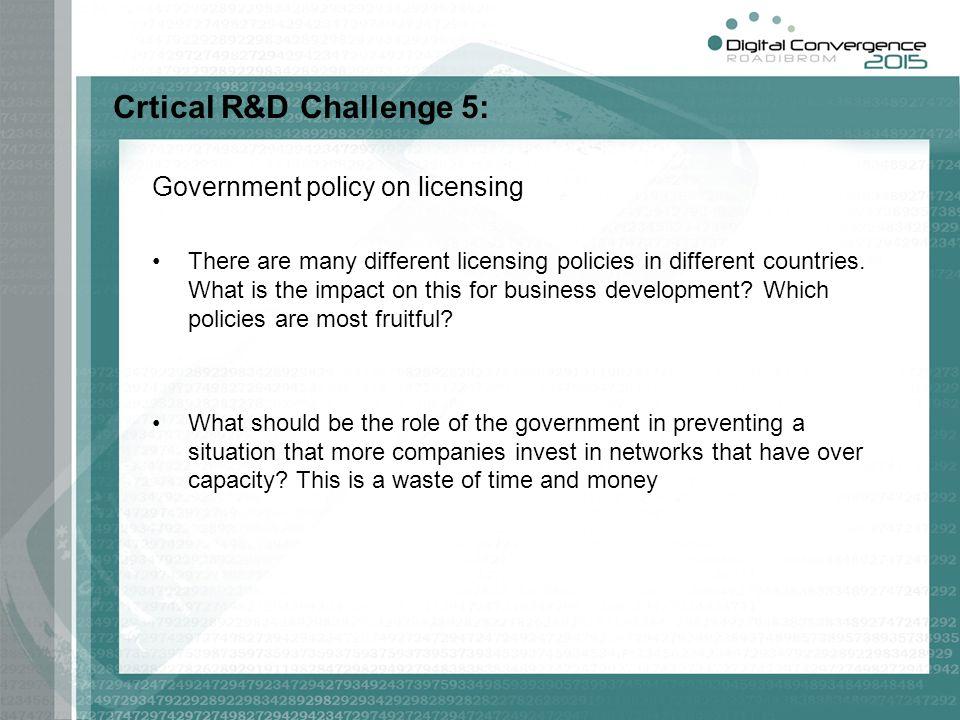 Crtical R&D Challenge 5: