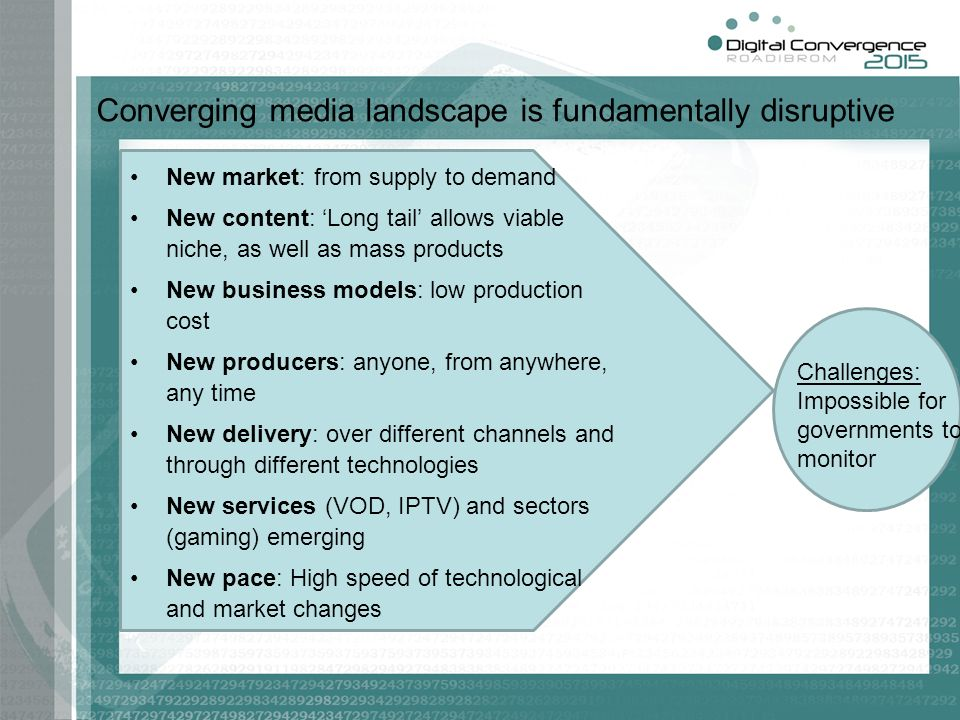 Converging media landscape is fundamentally disruptive