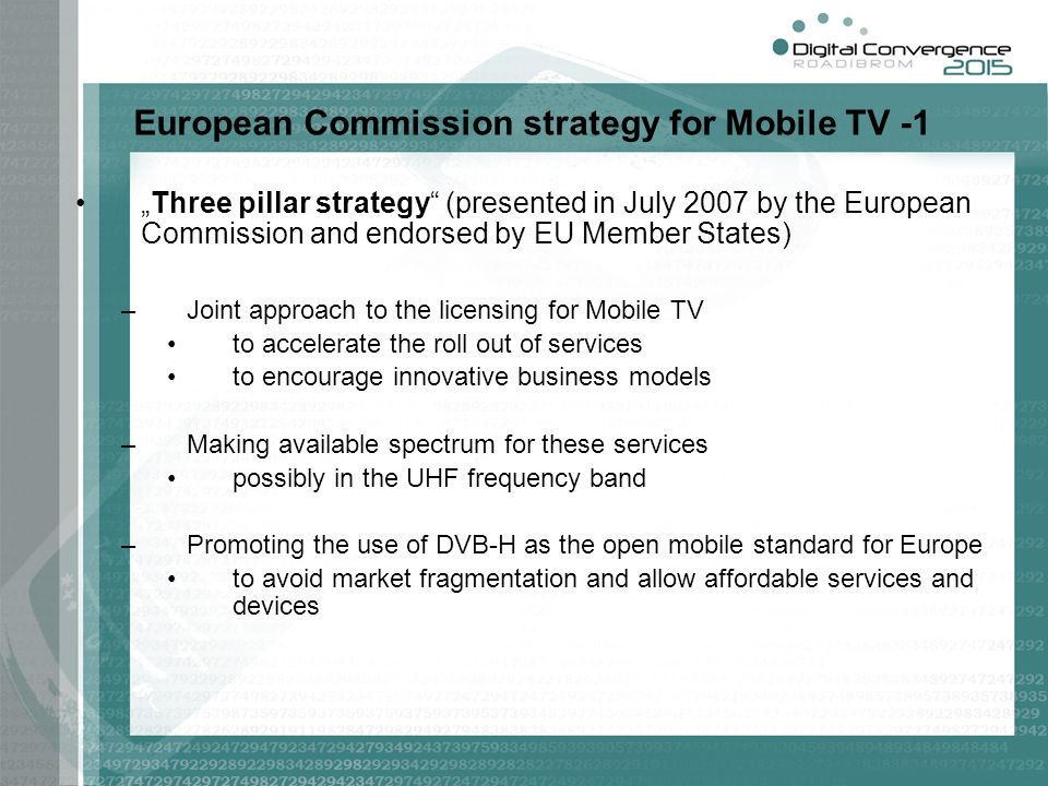 European Commission strategy for Mobile TV -1