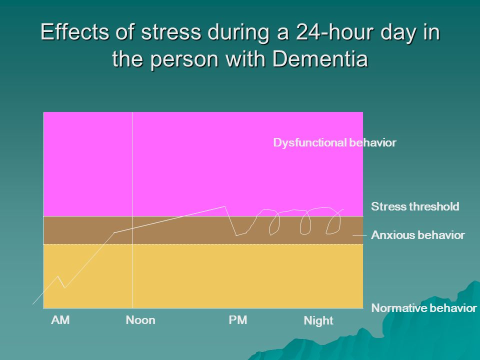 Effects of stress during a 24-hour day in the person with Dementia