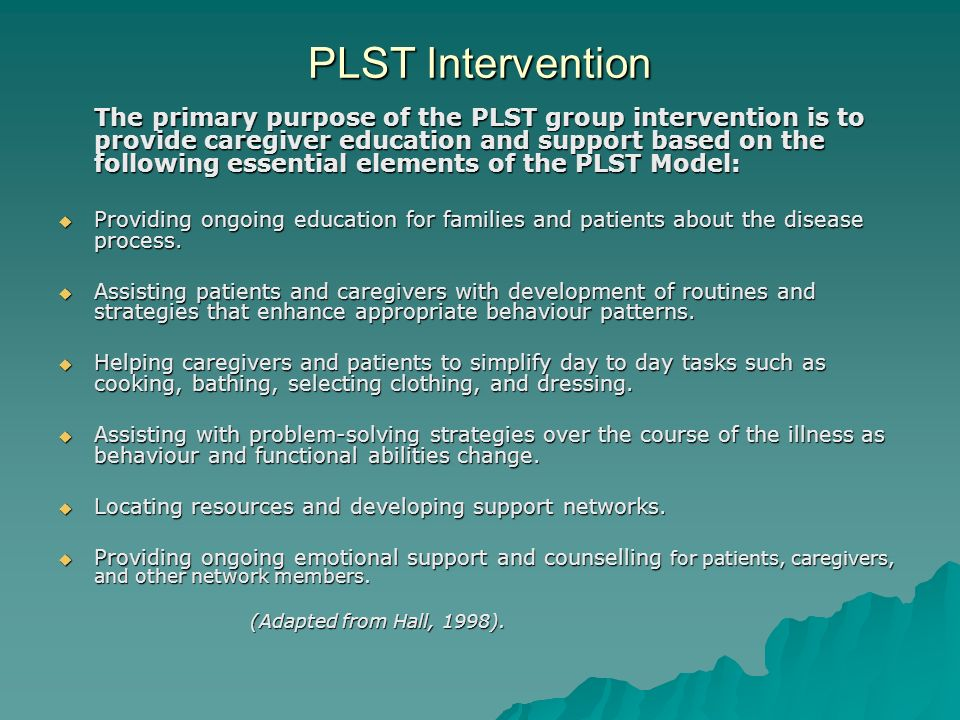 PLST Intervention