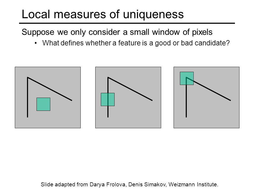 Local measures of uniqueness