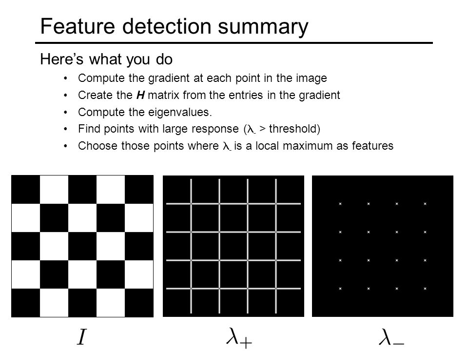 Feature detection summary