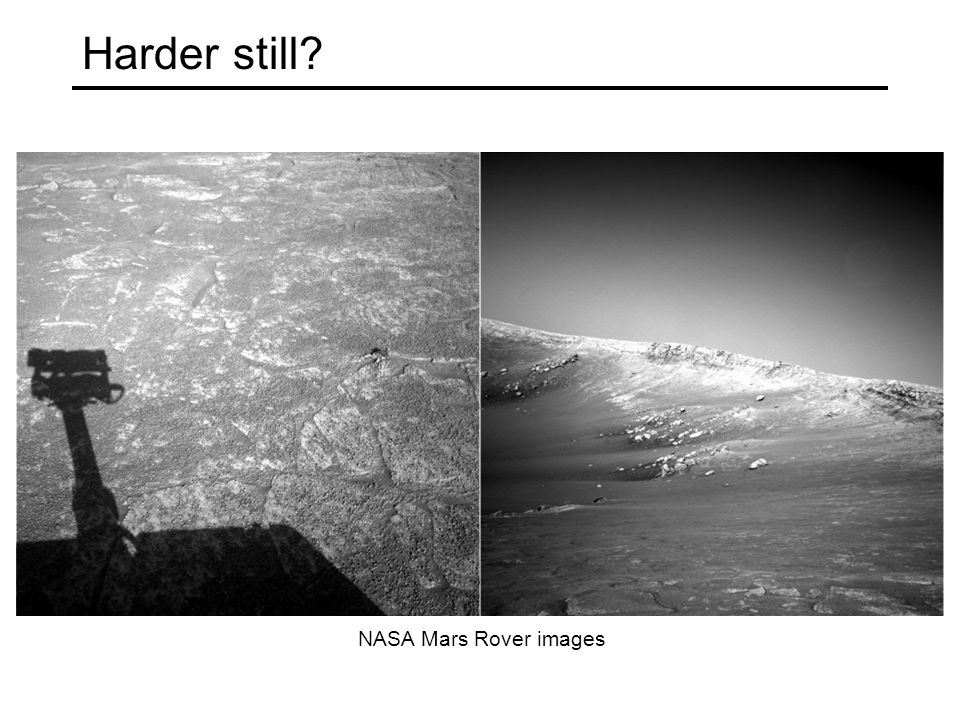 Harder still NASA Mars Rover images