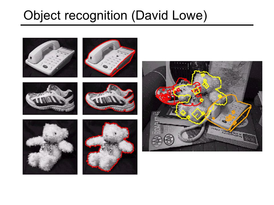 Object recognition (David Lowe)
