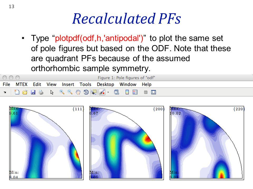 Recalculated PFs