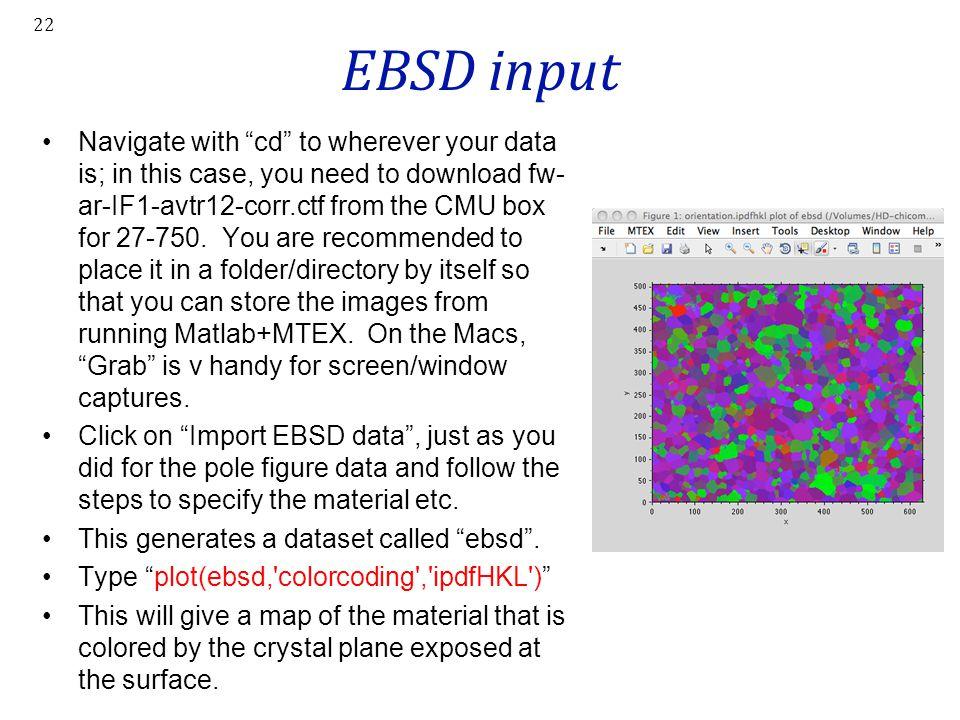 EBSD input