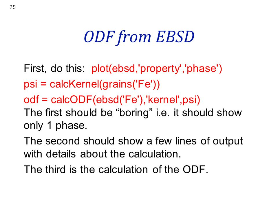 ODF from EBSD