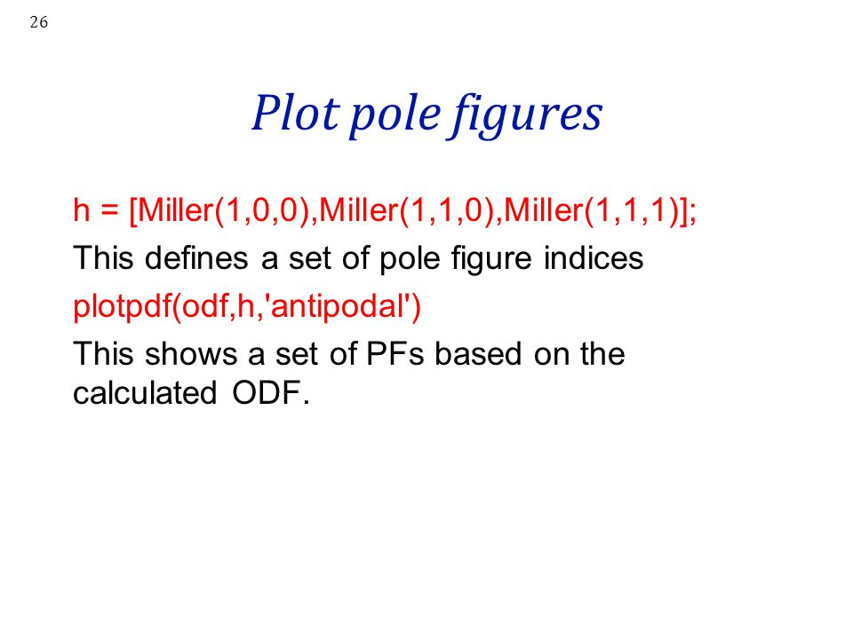 Plot pole figures