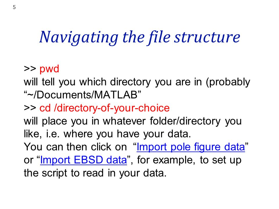 Navigating the file structure