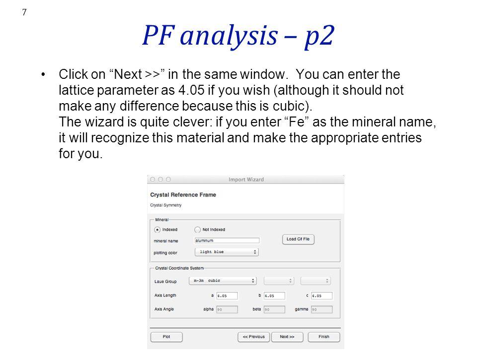 PF analysis – p2