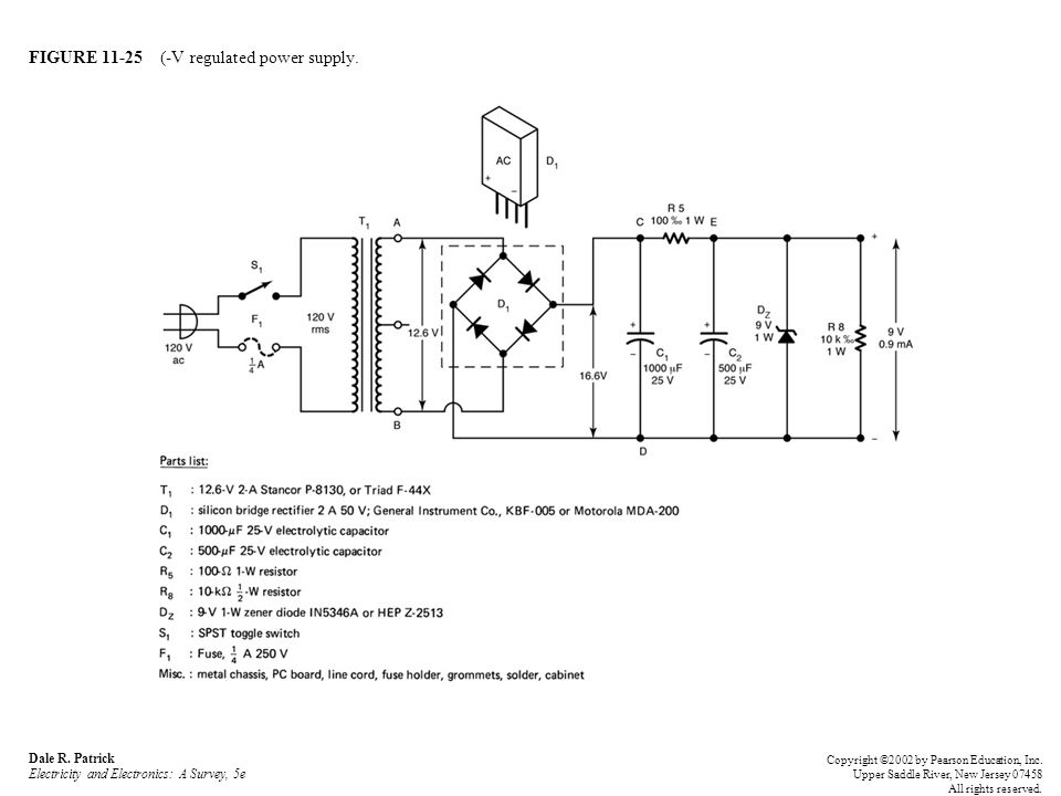 FIGURE 11-25 (-V regulated power supply.