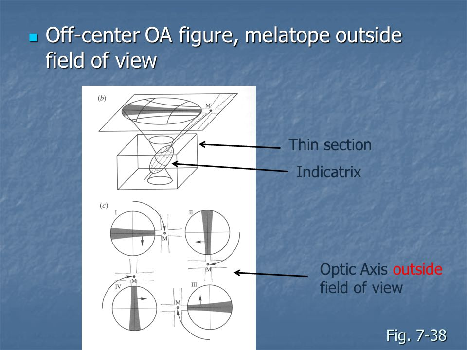 Off-center OA figure, melatope outside field of view