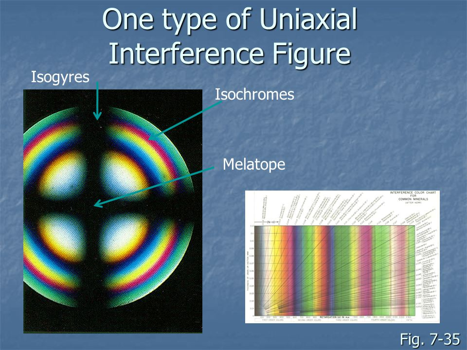 One type of Uniaxial Interference Figure