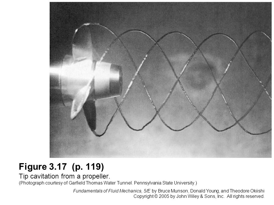 Figure 3. 17 (p. 119) Tip cavitation from a propeller