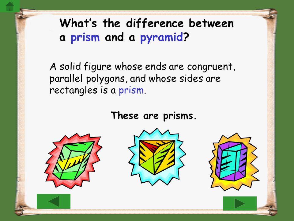 What's the difference between a prism and a pyramid
