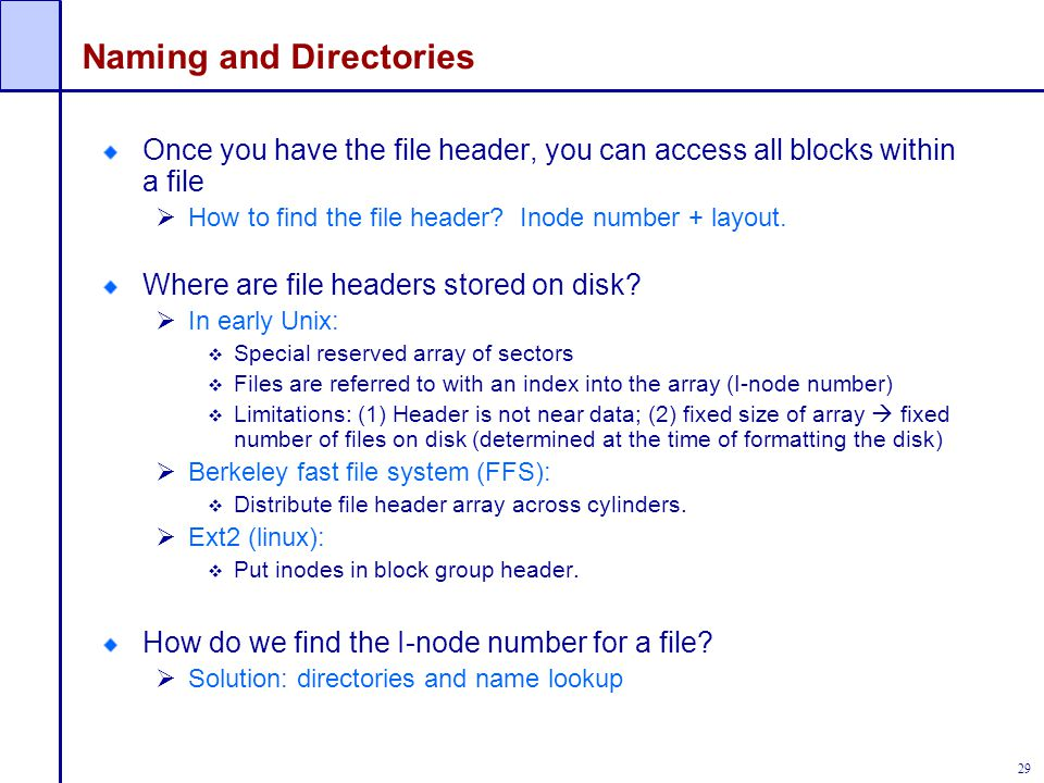 Naming and Directories