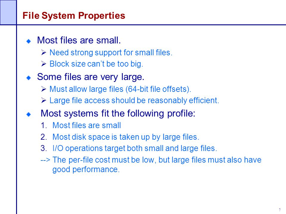 File System Properties