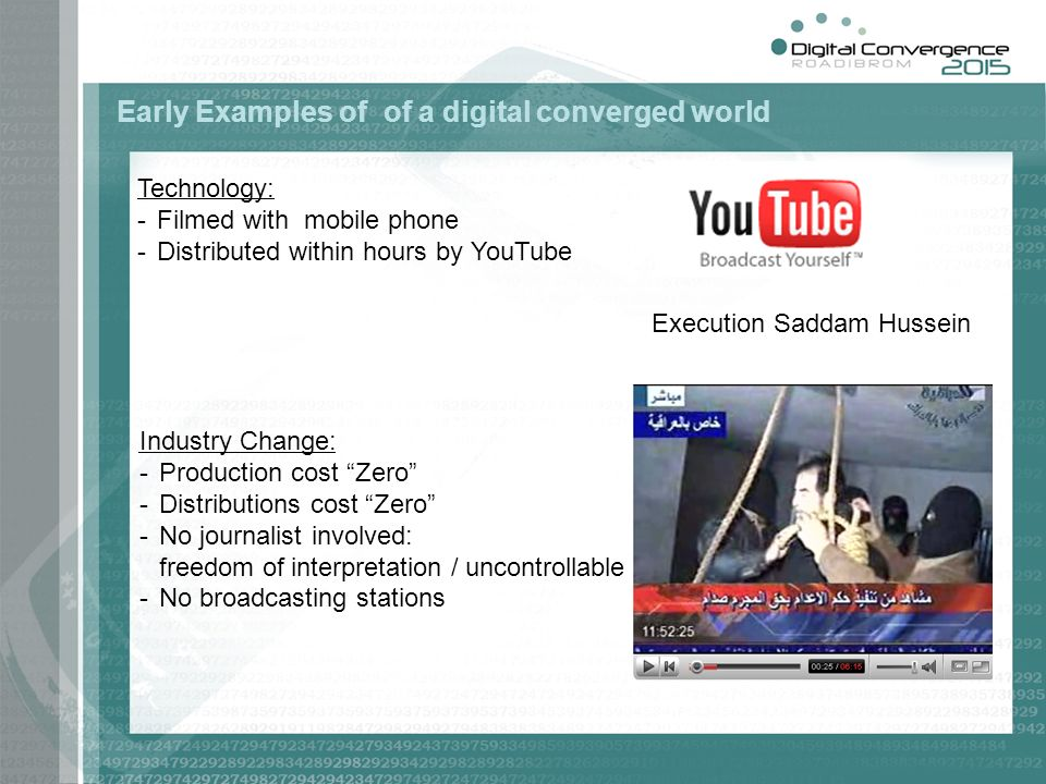 Early Examples of of a digital converged world
