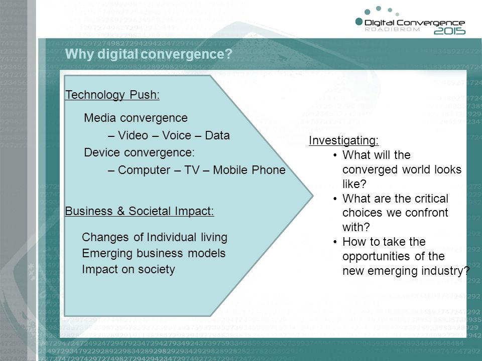 Why digital convergence