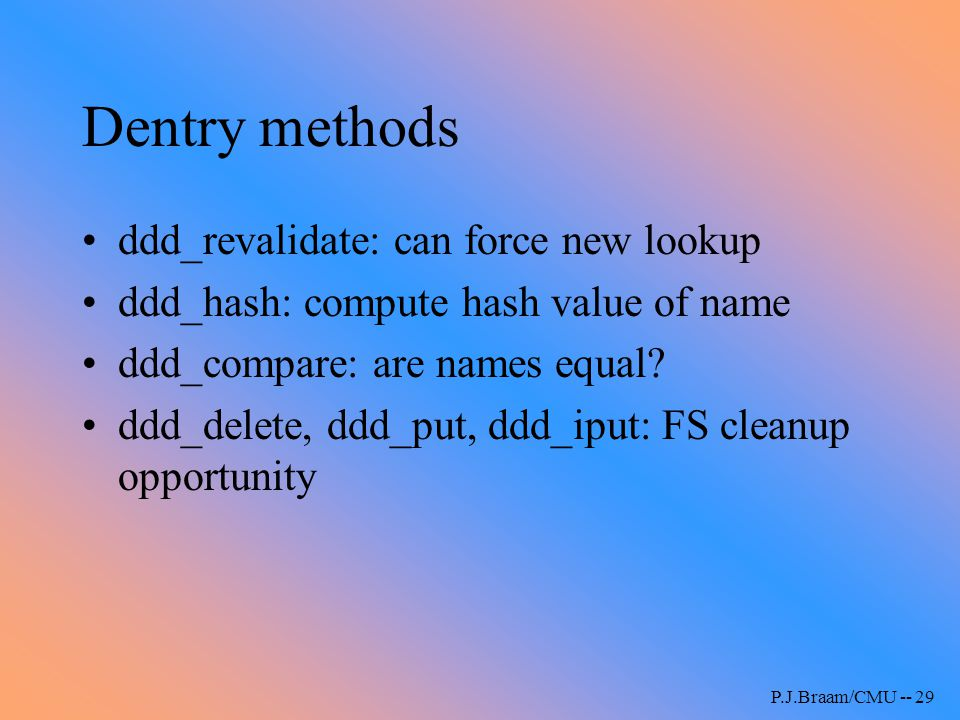 Dentry methods ddd_revalidate: can force new lookup