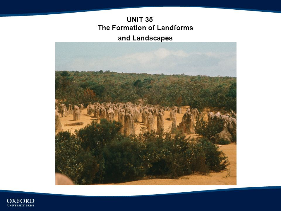 The Formation of Landforms and Landscapes