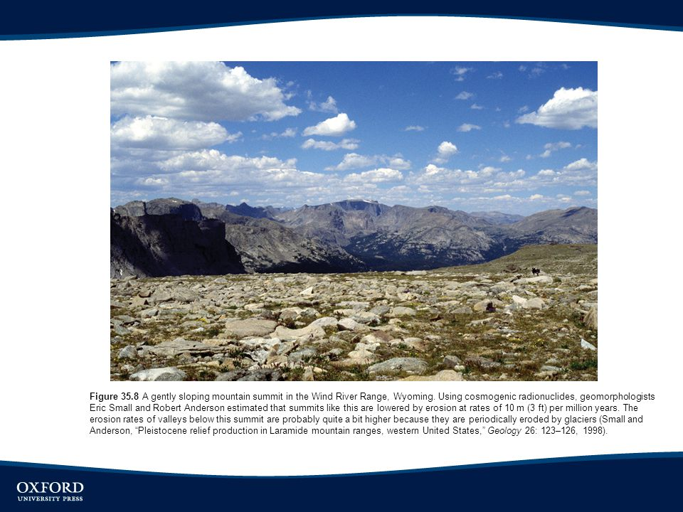 Figure 35.8 A gently sloping mountain summit in the Wind River Range, Wyoming.