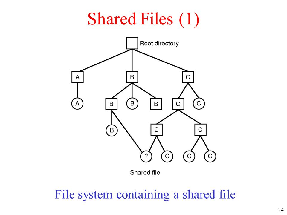 File system containing a shared file