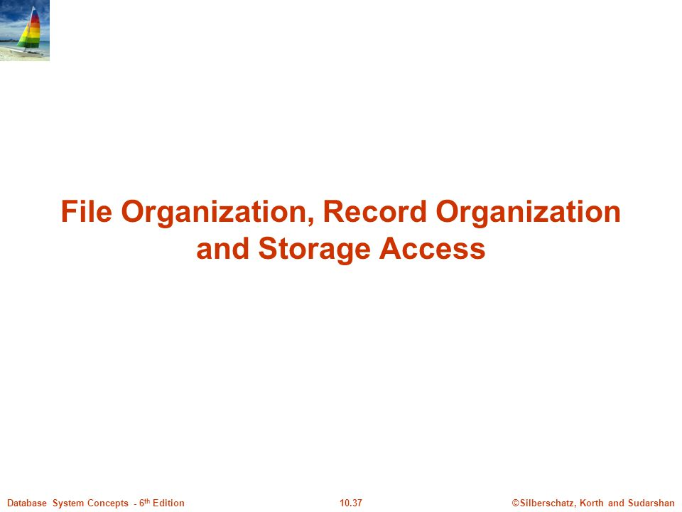 File Organization, Record Organization and Storage Access