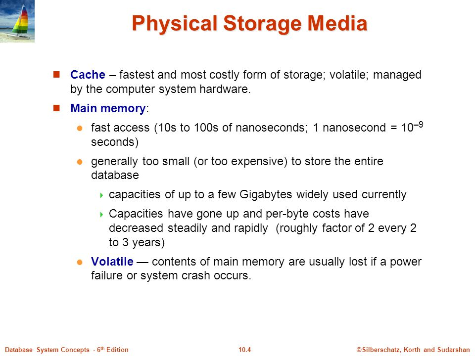 Physical Storage Media
