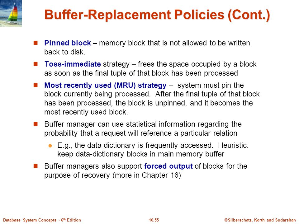 Buffer-Replacement Policies (Cont.)