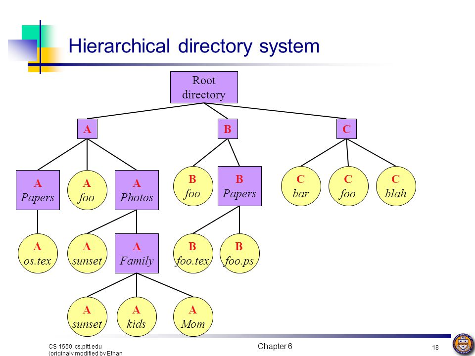 Hierarchical directory system