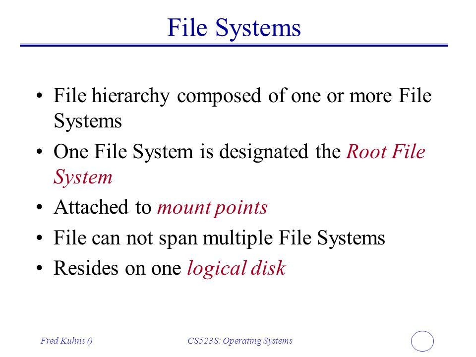 CS523S: Operating Systems