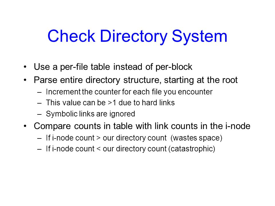 Check Directory System