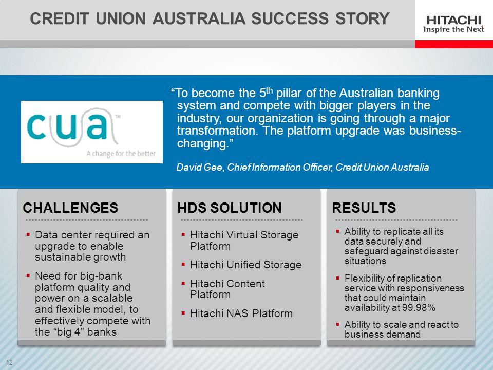 Credit union australia success story