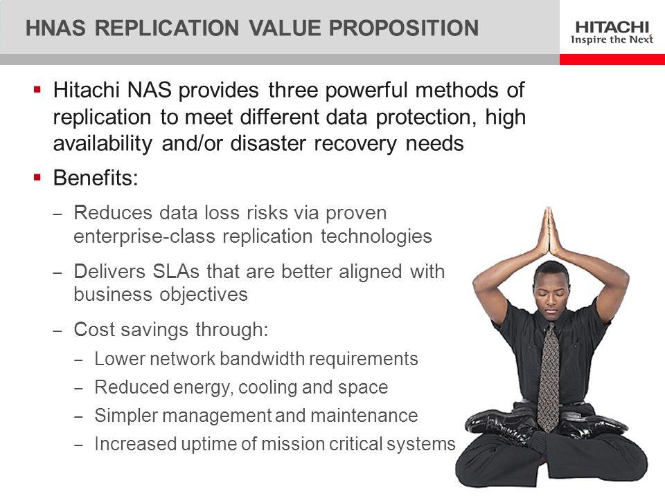 HNAS Replication value proposition